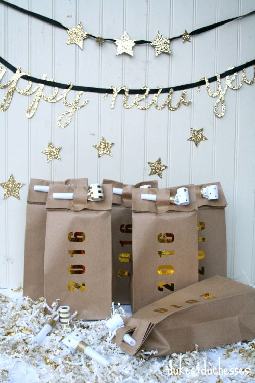New Year's Eve party favors via Dukes and Duchesses >> #WorldMarket New Year's Entertaining