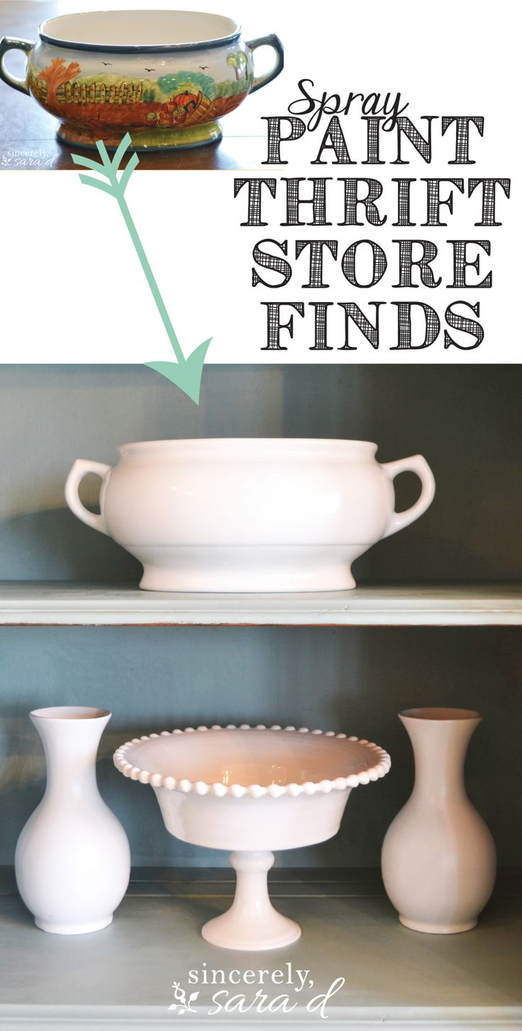 Don't throw out those ugly dishes!  You can give them a new life with spray paint!