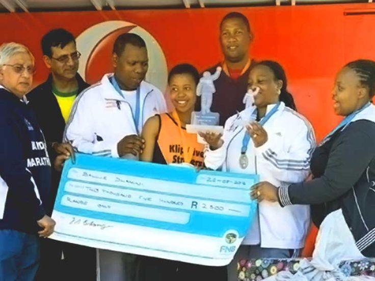 Inaugural #MandelaMarathon 2012 Prizegiving with #Mandla #mandela