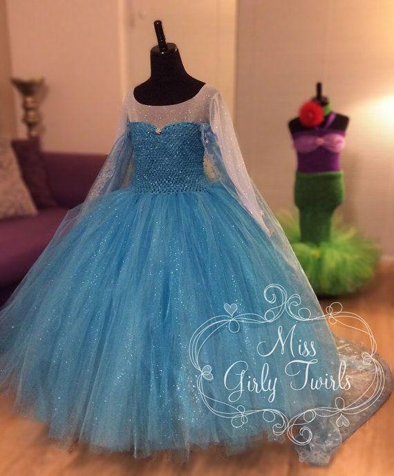 Queen Elsa Frozen Disney Tutu Dress Costume by MissGirlyTwirls
