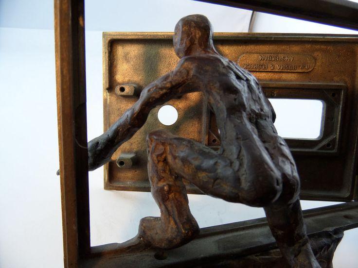 Bronze Kunst Mann mit Brief 1888g m.v.Bosma & Florack Amsterdam
