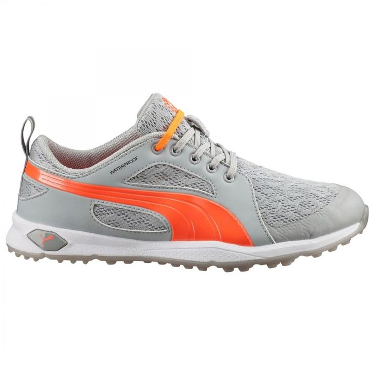 New Puma 2016 Biofly Mesh Womens Golf Shoes 188673  Light Grey/Peach