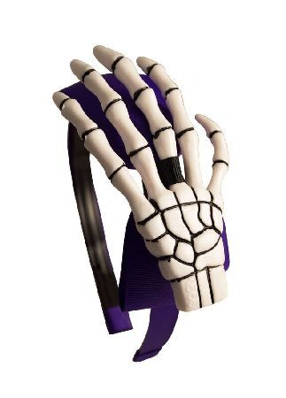 Kreepsville 666 Skeleton Hand Alice Band Purple/White An Alice band is the easiest way to tame wild locks, and this kreepy hairband from Kreepsville 666 is no exception. The Skeleton Hand Alice Band band has teeth an XL sized skeleton hand sits perched o http://www.MightGet.com/may-2017-1/kreepsville-666-skeleton-hand-alice-band-purple-white.asp