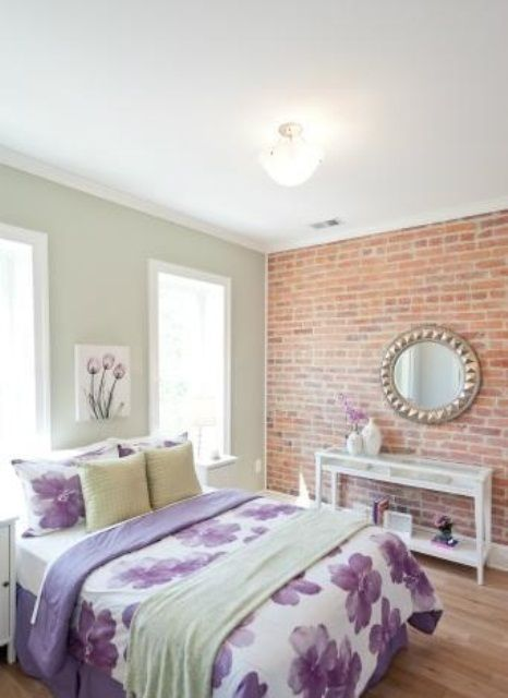 Best Brick Wall Ideas Images On Pinterest Anthropology - 65 impressive bedrooms with brick walls