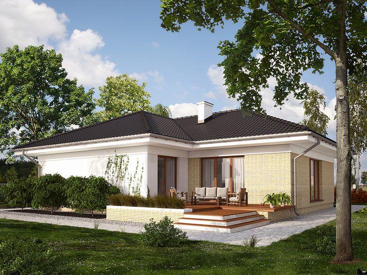 Projekt domu parterowego Kaszmir (127,55 m2). Pełna prezentacja projektu jest dostępna na stronie: https://www.domywstylu.pl/projekt-domu-kaszmir.php. #kaszmir, #projekt #dom #projektygotowe, #domyparterowe, #domywstylu, #mtmstyl, #architektura, #architecture, #design