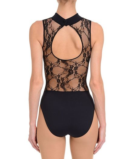 Women's Dance NYCB Mock Turtle Neck Lace Back Leotard : Women's Dancewear LEOTARDS | Danskin