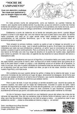 """Lecturas absurdas: """"Noche de campamento"""""""