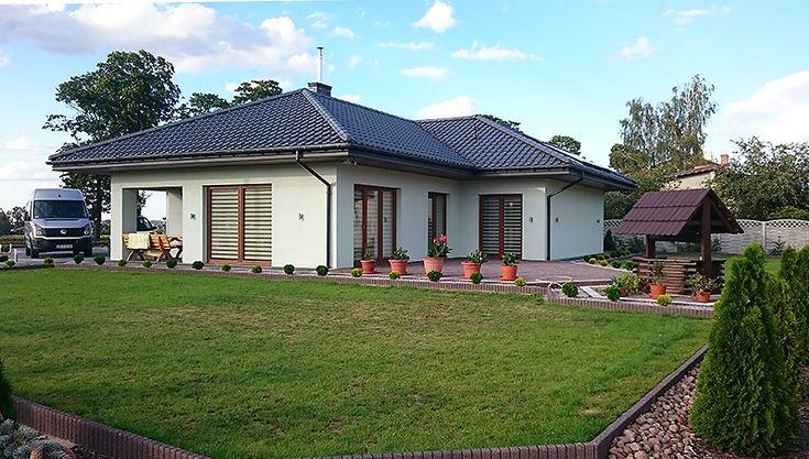 Realizacja projektu Ambrozja (137 m2). Pełna prezentacja projektu na stronie: https://www.domywstylu.pl/projekt-domu-ambrozja.php. #realizacja #projekty #domow #ambrozja #projekt #domy #projekty #gotowe #domywstylu #mtmstyl #home #houses #architektura #design #aranżacje #interiors #insides