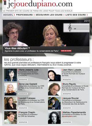 Jejouedupiano.com: offrez-vous les conseils des plus grands professeurs !