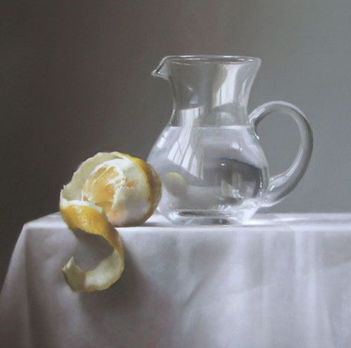 How to paint light and reflections.  Try to paint reflections on glass and you can often get caught up in complex details. Royal Institute of Oil Painters member Lucy McKie shows a quick, subtle and more painterly way to work