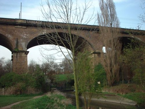 Viaduct over canal near to Brent Lodge Park and Ealing Hospital