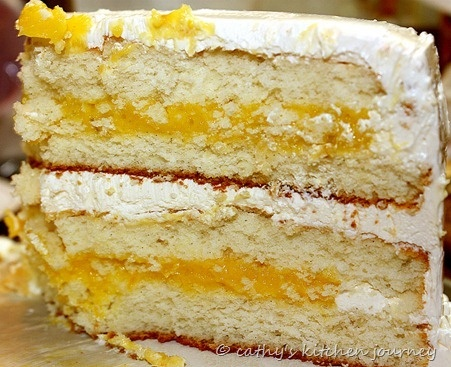 ... Bean Cake with Lemon and Lime Curd Filling and Swiss Meringue Frosting