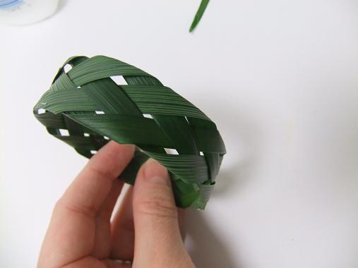 plaited leaf braclet