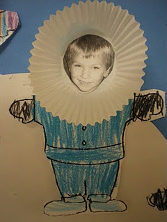 Make kids in snowsuits using a photo and a cupcake liner