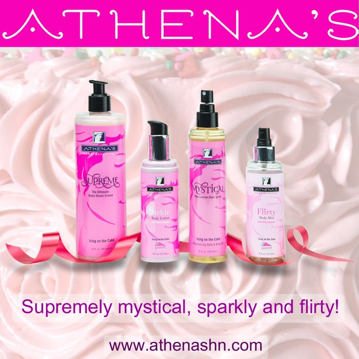 Icing On The Cake is a sweet and seductive scent perfect to wear when you want to be playful and spontaneous. Let your personality shine through and your smooth skin glow! www.athenashn.com/7635