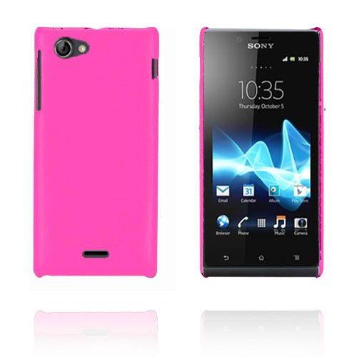 Alpha (Pinkki) Sony Xperia J Kotelo