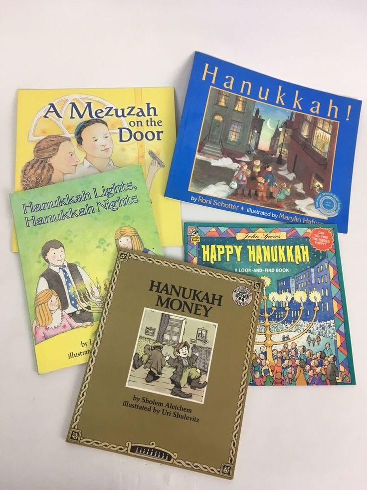Lot of 5 Kids Books Judaism Jewish Hanukkah Hanukah Holiday Winter Mezuzah