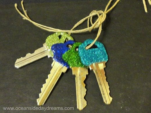 glitter keys. Now I don't have to figure out which key goes to what.