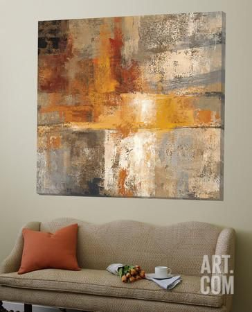 Silver and Amber Crop Loft Art by Silvia Vassileva at Art.com