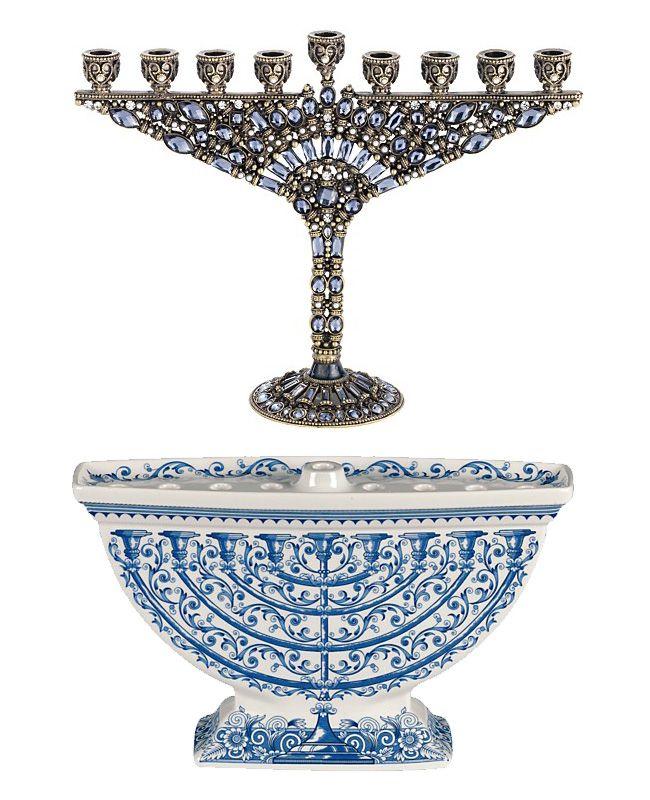 Stunning and intricate Hanukkah menorahs