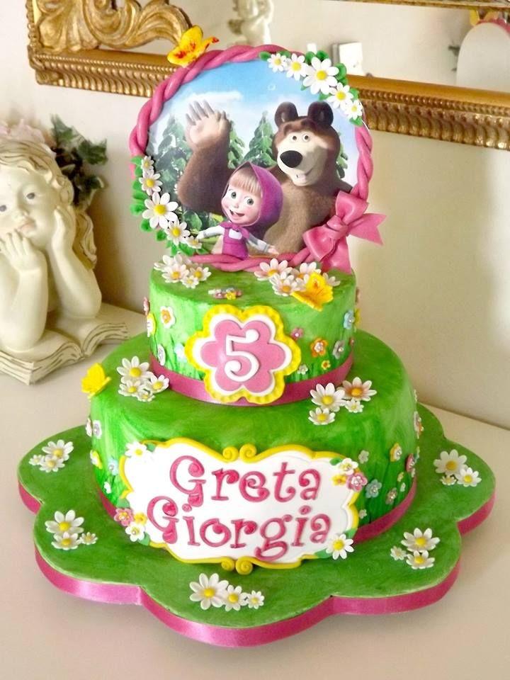 Torta MASHA E ORSO MASHA & BEAR Cake