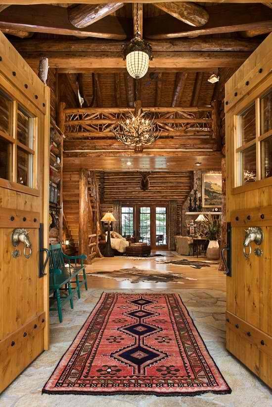 Best 73 Decor Log Cabin Homes Images On Pinterest Other