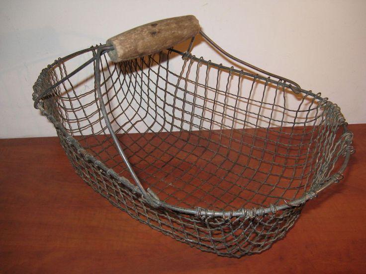 Antique metal French potato basket... #ArtDeco