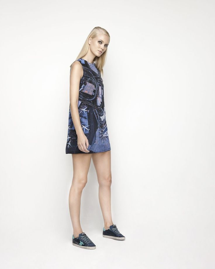 House Of Cannon - Launching Los Angeles - SS17/18 Shift Dress in Turbulence print