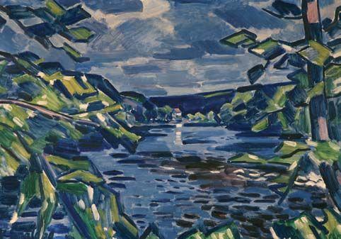 NA OTAVĚ / 1929 olej na plátně / 73 x 100 cm