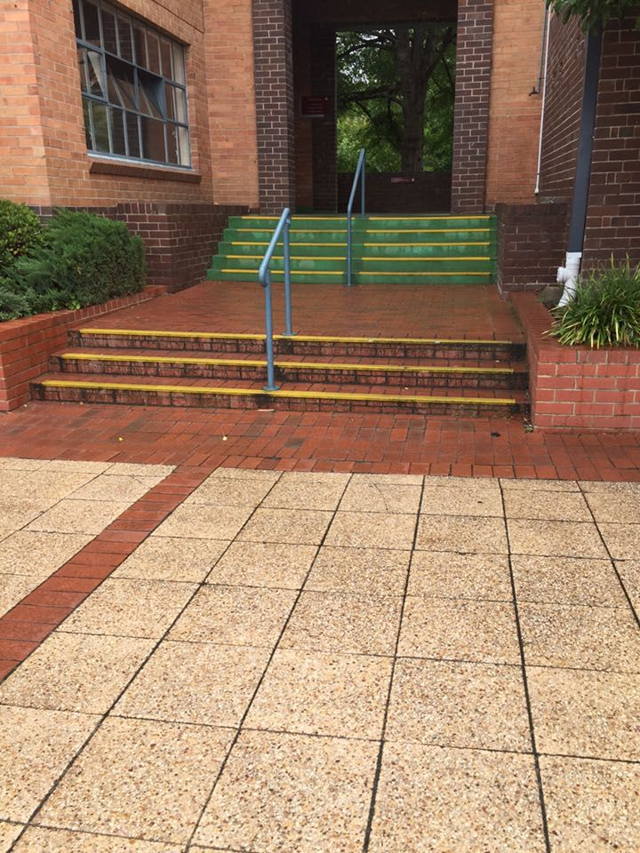 physical environment: stairs promote physical activity as it limits people taking lifts egc