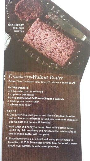 Cranberry Walnut Butter (from Publix flyer)