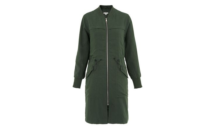 Longline Casual Jacket, in Khaki on Whistles