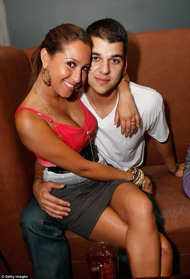 Not good terms:Previously Rob had famously dated Adrienne Bailon from 2007 to 2009, before a messy breakup which would later prompt Twitter feuds between the star and Rob's sisters
