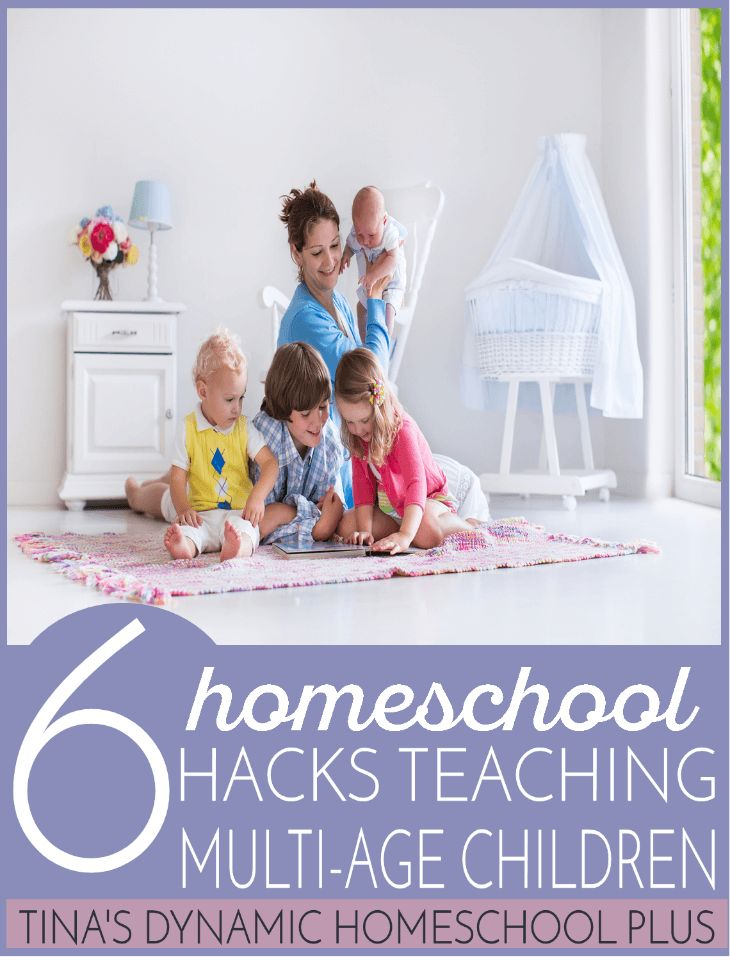 6 Homeschool Hacks Teaching Multi-Age Children @ Tina's Dynamic Homeschool Plus