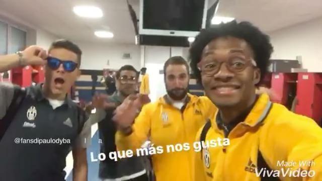 Dani, Higuain, Cuadrado and Paulo in Cuadrado' instagram story