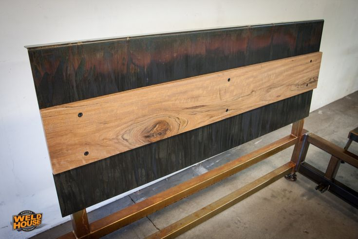 """The Weld House Lowboy bed frame is an industrial design made from TIG welded heavy wall steel tubing and 1/8"""" plate steel. It will last forever with no creaking or breaking."""