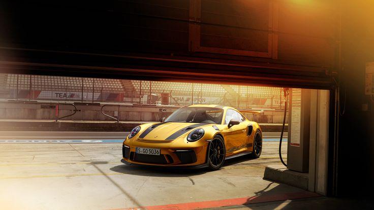 New Porsche 911 GT3RS Gold 4k wallpaper porsche wallpapers, porsche 911 wallpapers, porsche 911 gt3 r wallpapers, hd-wallpapers, cars wallpapers, behance wallpapers, 4k-wallpapers, 2018 cars wallpapers 3