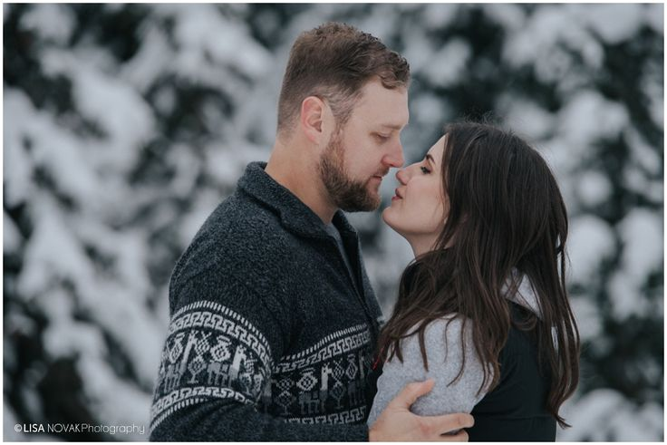winter engagement session sun peaks