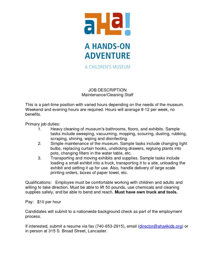 house cleaning resume templates