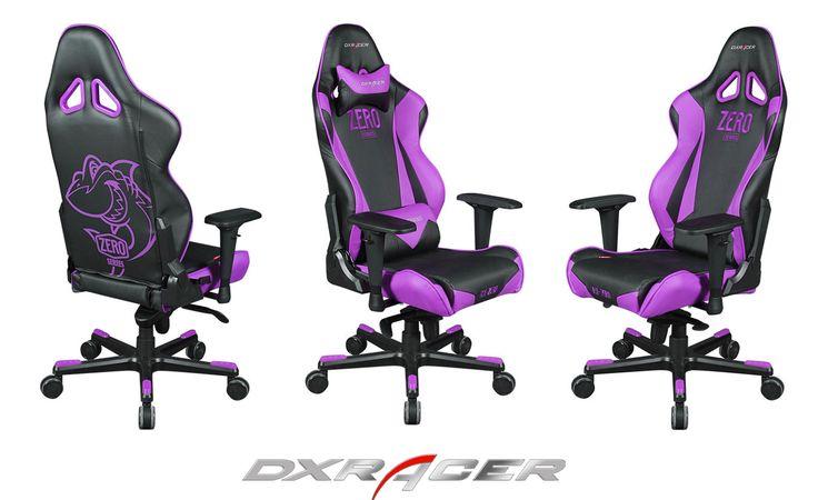 Dxracer racing chair rj0nv 369 black and purplegaming