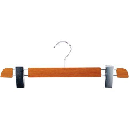 14 inch Executive Series Wooden Pant Hangers, 12-Piece Set