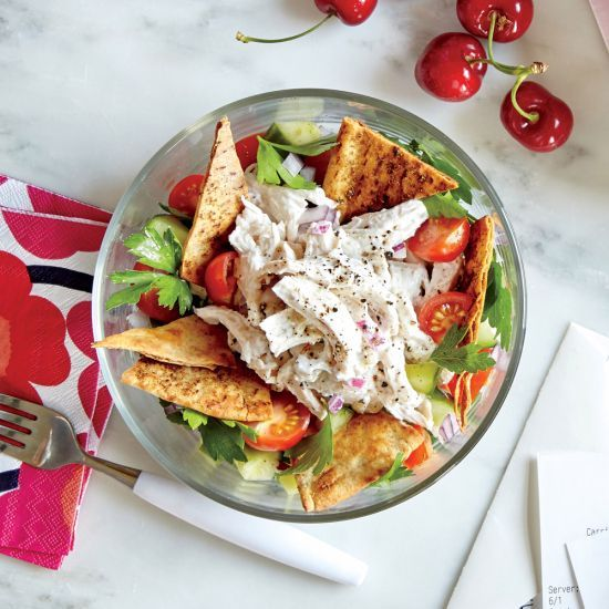 Bread Has Always Been Part of the Cooking Light Diet: Greek-Style Chicken Salad Recipe | Cooking Light | CookingLight.com