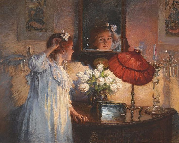 Albert Chevallier Tayler - The Mirror