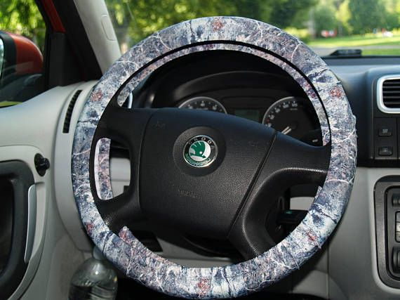 Grey Marble Style Steering Wheel Cover Car Accessories Birthday
