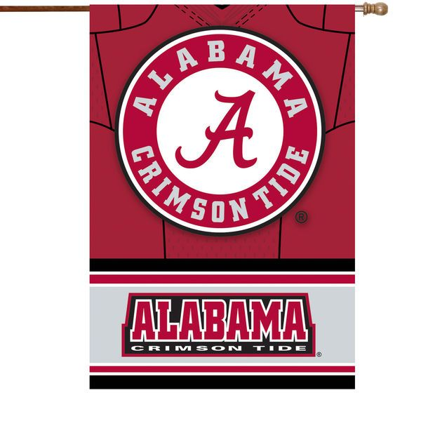 "Alabama Crimson Tide 29"" x 43"" Double-Sided Jersey Foil House Flag - $29.99"