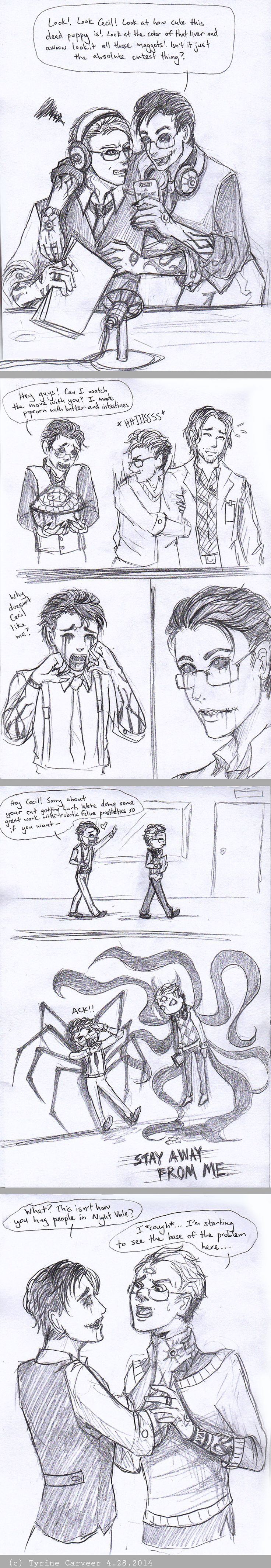 Night Vale Doodledump (04.2014) Kevin-centric by TyrineCarver on DeviantArt