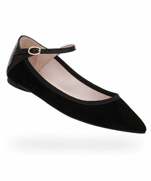 BALLERINA / CLEMENCE ( PATENT LEATHER AND GOATSKIN SUEDE / Black ) (バレエシューズ) repetto(レペット)のファッション通販 - ZOZOTOWN