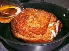 Learn how to make this tender ham in your Slow Cooker. So easy and so delicious. http://www.quick-german-recipes.com/how-to-cook-ham.html