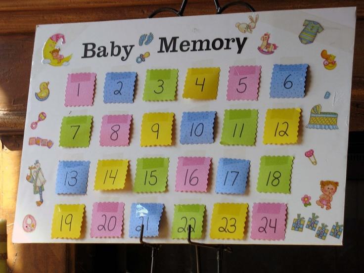 baby memory game baby shower pinterest