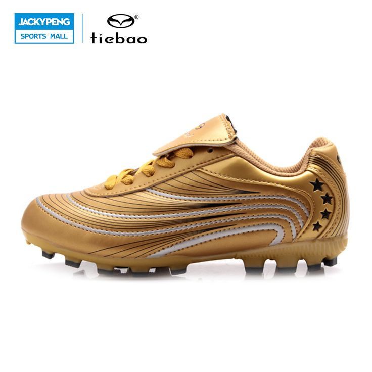 ==> [Free Shipping] Buy Best TIEBAO Professional Outdoor Children Soccer Shoes AG Soles Kids Breathable Sports Sneakers Gold Slip Resistant Football Shoes Online with LOWEST Price | 32575684529